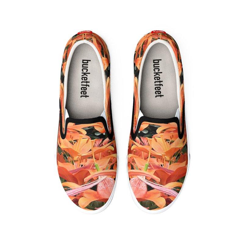 Orange Lilies Women's Shoes by duocuspdesign Artist Shop