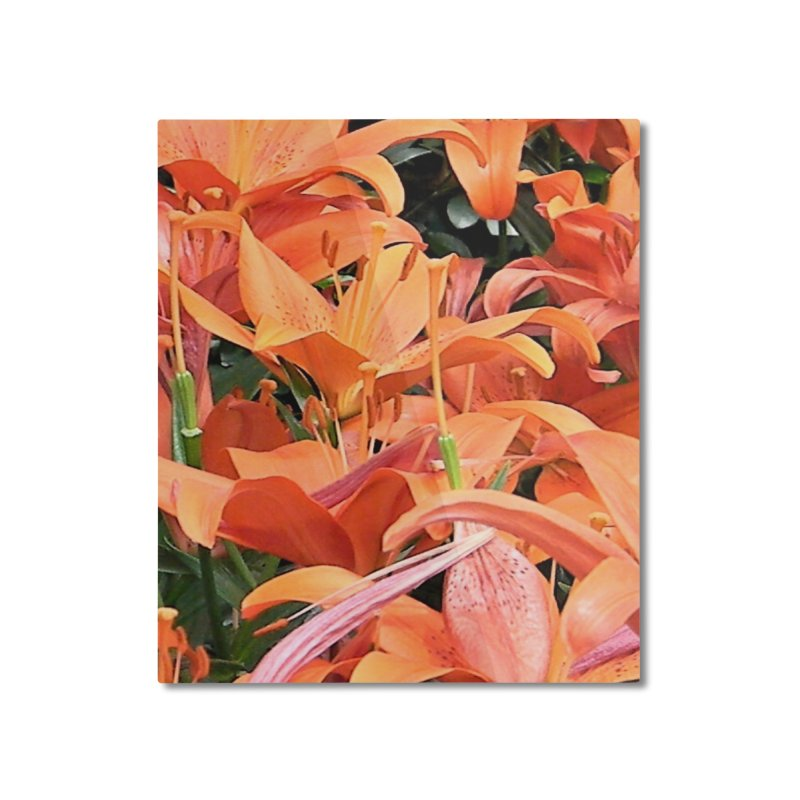 Orange Lilies Home Mounted Aluminum Print by duocuspdesign Artist Shop