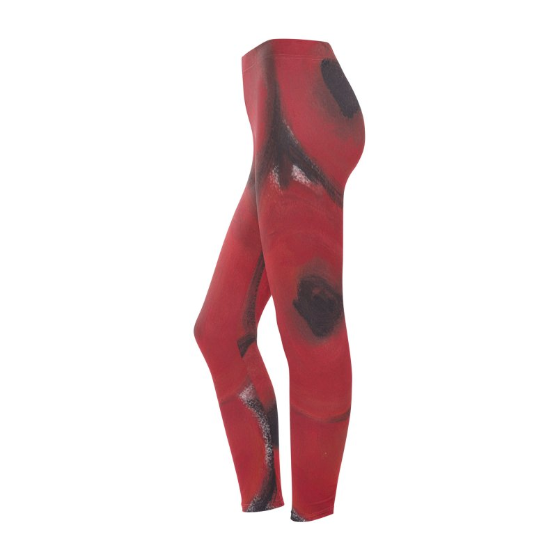 Stylized Poppies Women's Bottoms by duocuspdesign Artist Shop