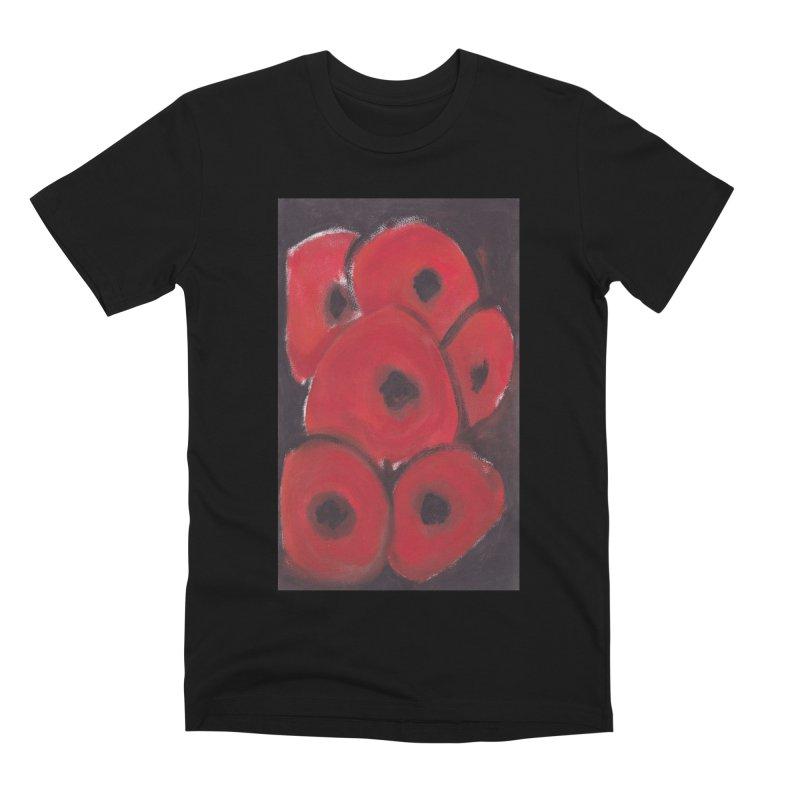 Stylized Poppies Men's Premium T-Shirt by duocuspdesign Artist Shop