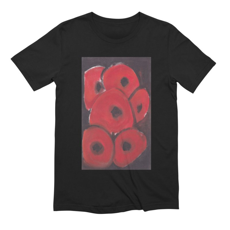 Stylized Poppies Men's Extra Soft T-Shirt by duocuspdesign Artist Shop