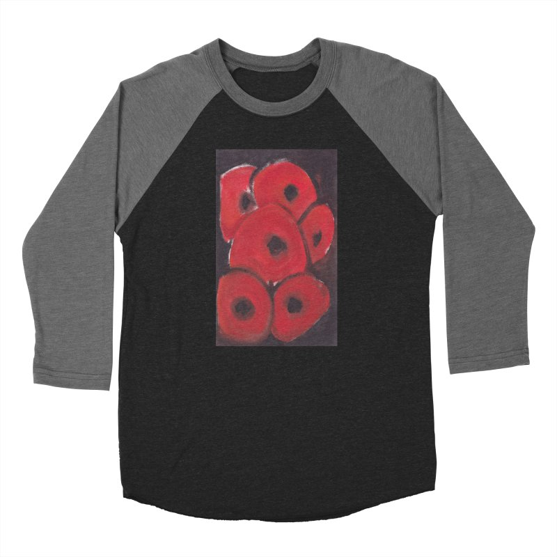 Stylized Poppies Men's Baseball Triblend Longsleeve T-Shirt by duocuspdesign Artist Shop