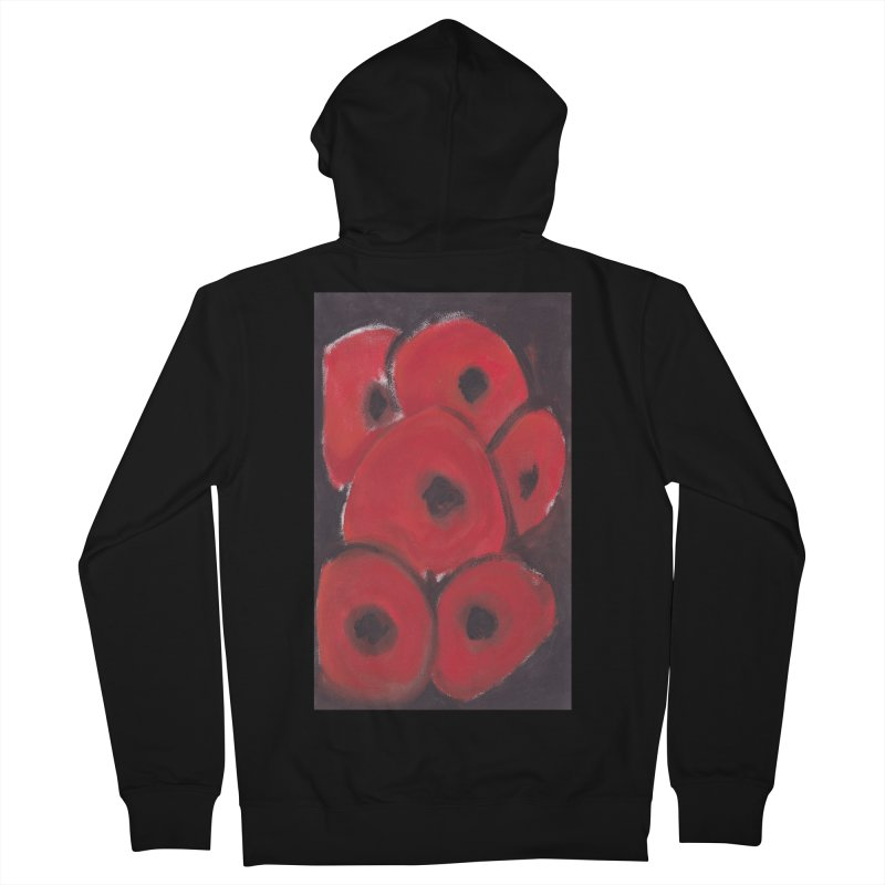 Stylized Poppies Women's French Terry Zip-Up Hoody by duocuspdesign Artist Shop