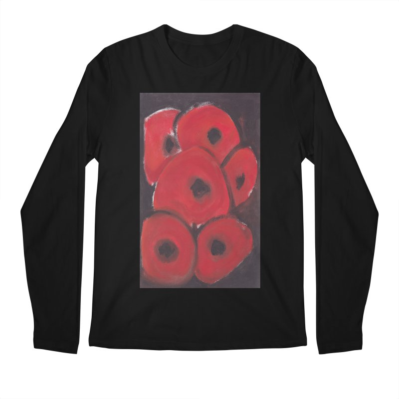 Stylized Poppies Men's Regular Longsleeve T-Shirt by duocuspdesign Artist Shop