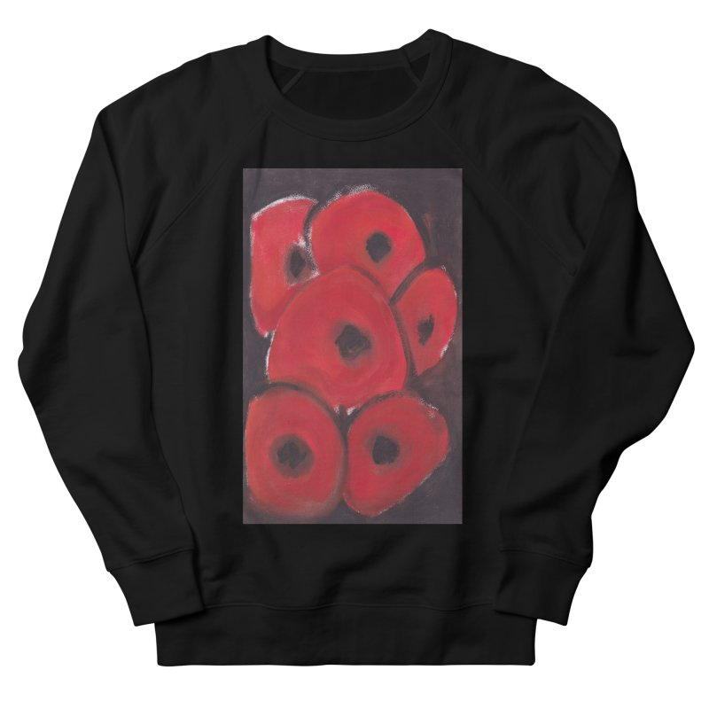 Stylized Poppies Men's French Terry Sweatshirt by duocuspdesign Artist Shop