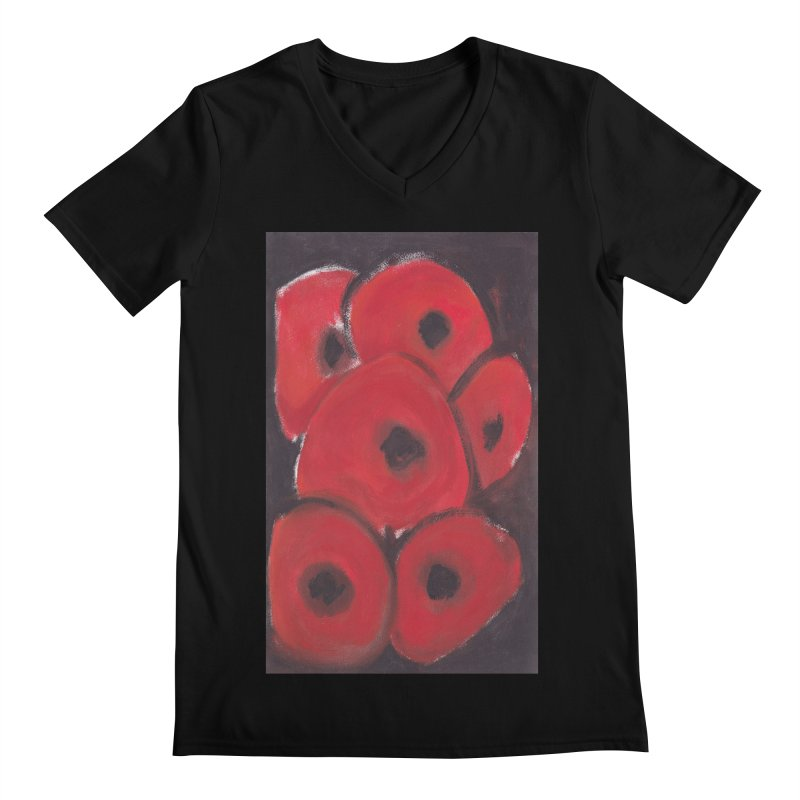 Stylized Poppies Men's V-Neck by duocuspdesign Artist Shop