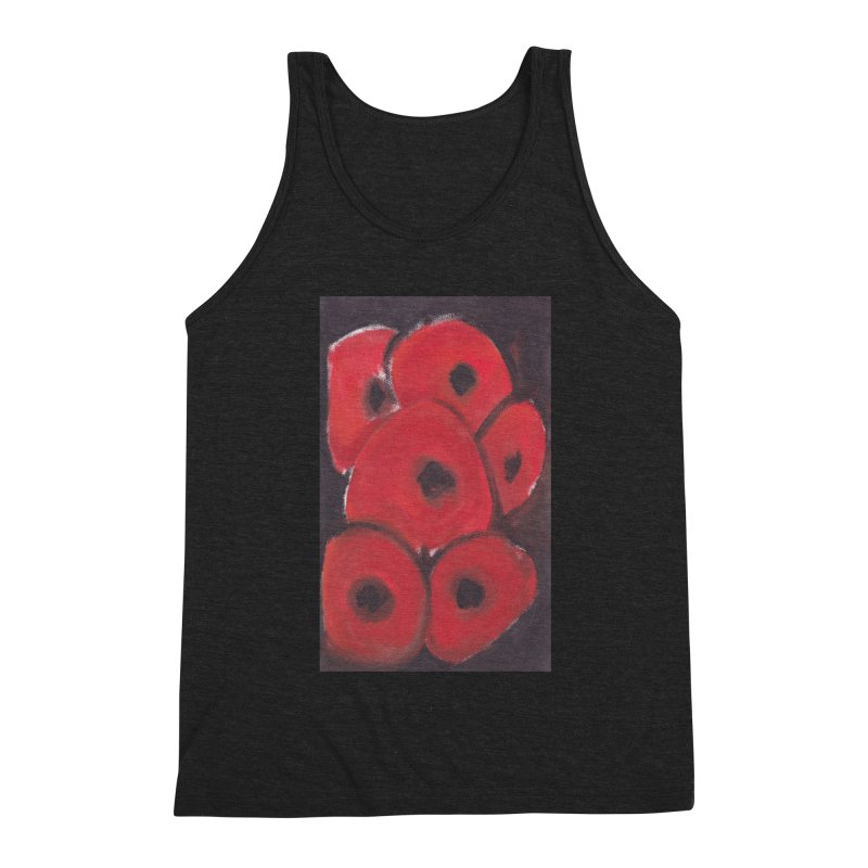 Stylized Poppies Men's Triblend Tank by duocuspdesign Artist Shop