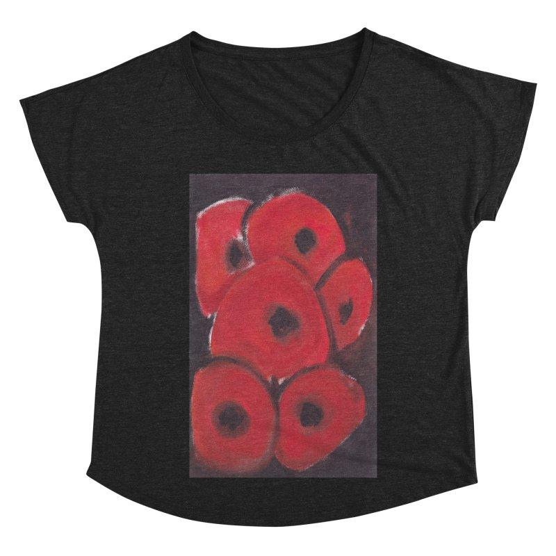 Stylized Poppies Women's Dolman Scoop Neck by duocuspdesign Artist Shop