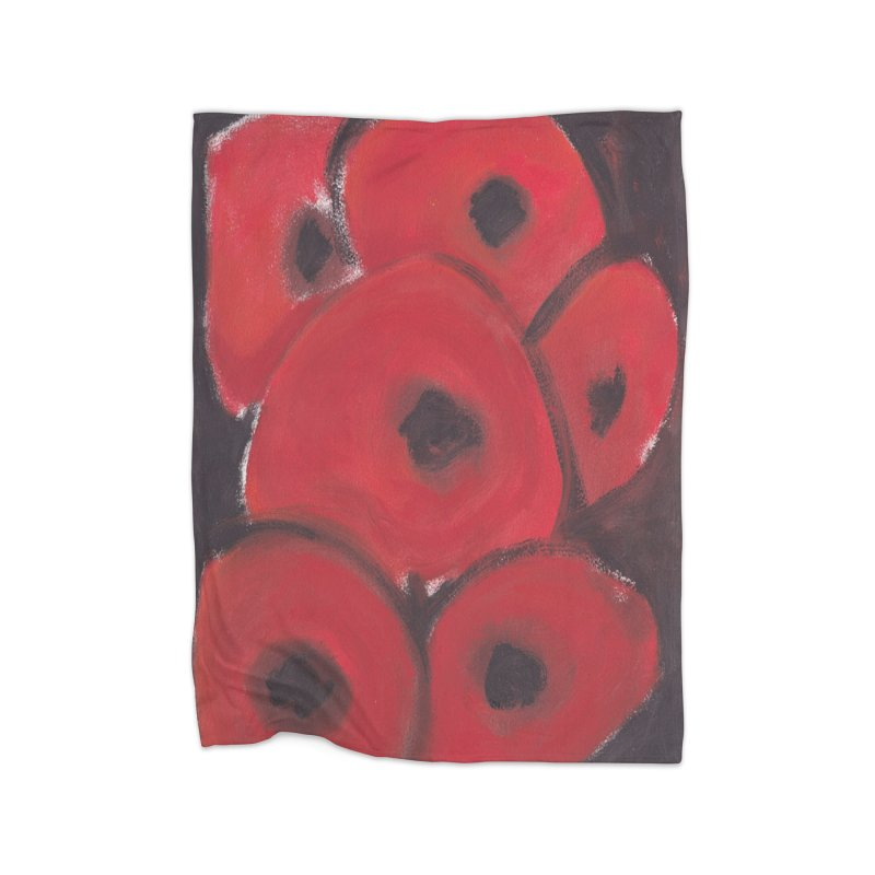 Stylized Poppies Home Fleece Blanket Blanket by duocuspdesign Artist Shop