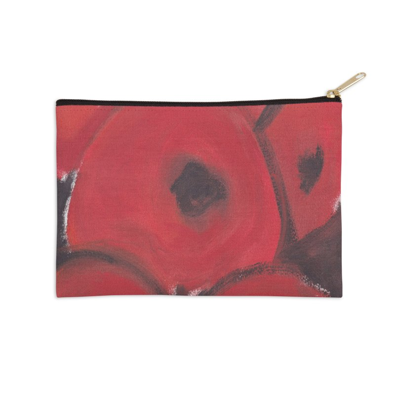 Stylized Poppies Accessories Zip Pouch by duocuspdesign Artist Shop