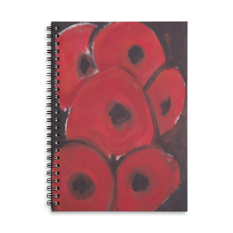 Stylized Poppies Accessories Notebook by duocuspdesign Artist Shop