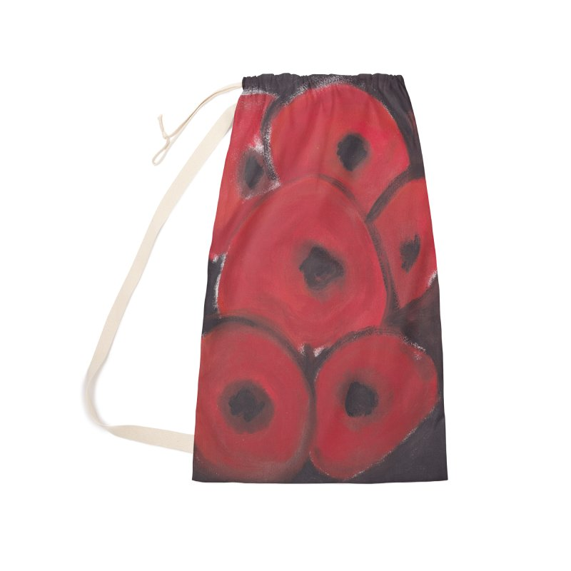 Stylized Poppies Accessories Laundry Bag Bag by duocuspdesign Artist Shop