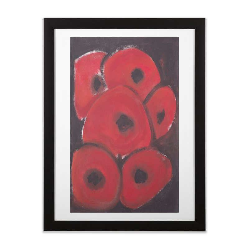 Stylized Poppies Home Framed Fine Art Print by duocuspdesign Artist Shop