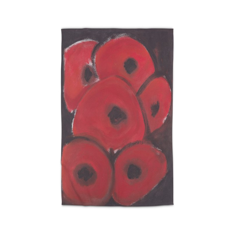 Stylized Poppies Home Rug by duocuspdesign Artist Shop