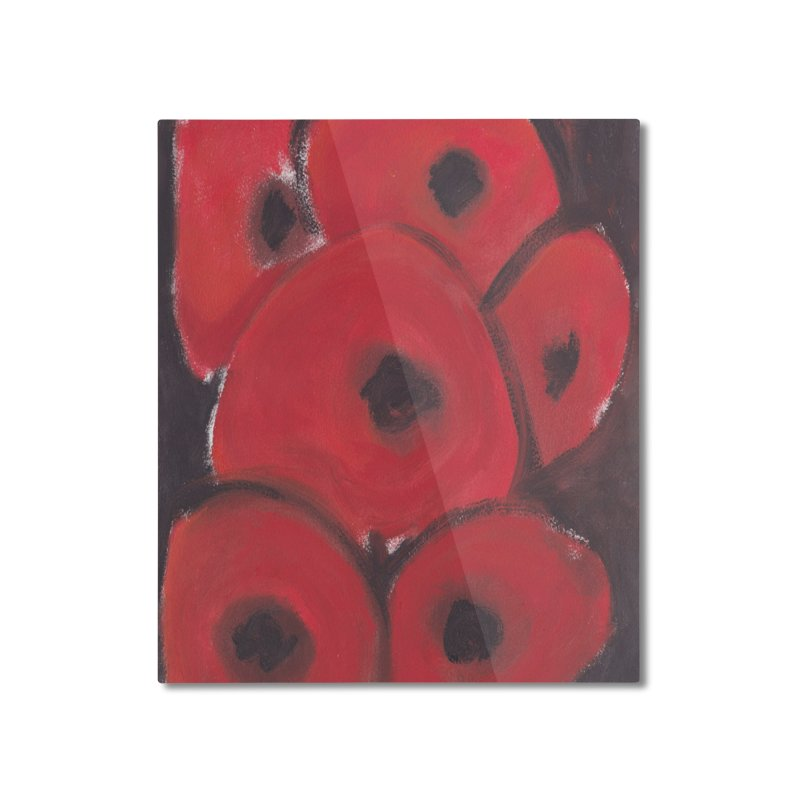 Stylized Poppies Home Mounted Aluminum Print by duocuspdesign Artist Shop