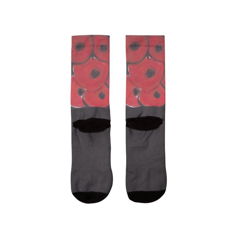 Stylized Poppies Men's Socks by duocuspdesign Artist Shop