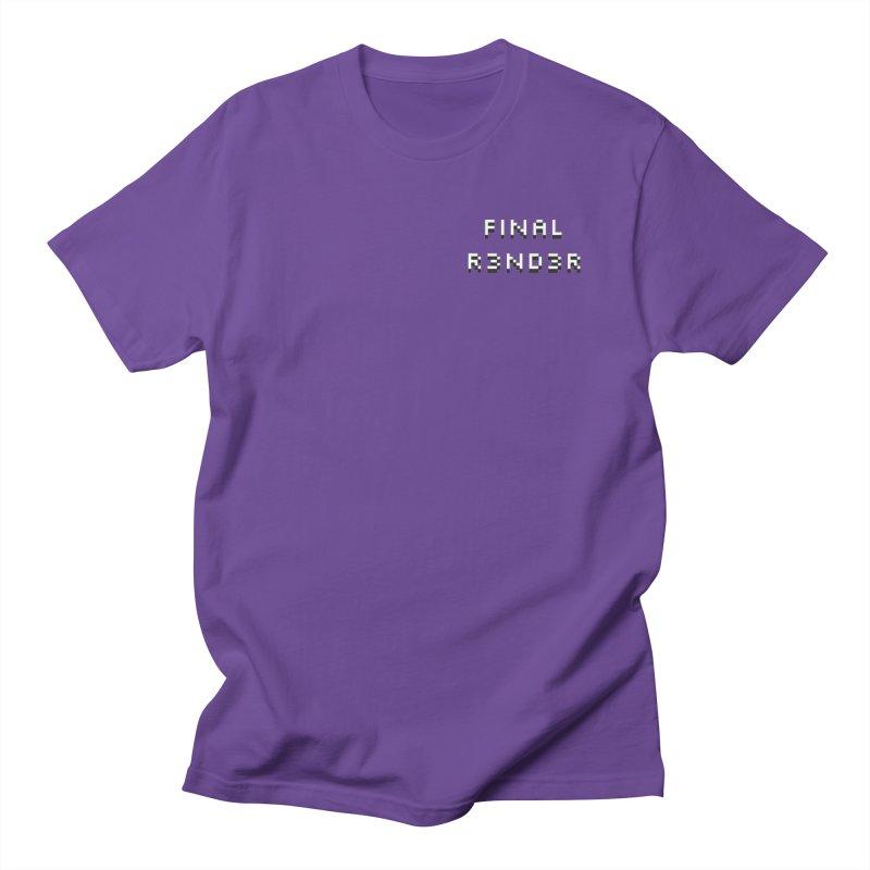 FINAL R3ND3R small logo Men's T-Shirt by FinalRender Shop