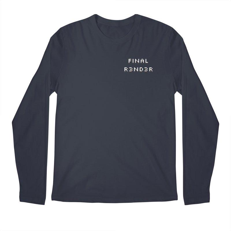 FINAL R3ND3R small logo Men's Longsleeve T-Shirt by FinalRender Shop