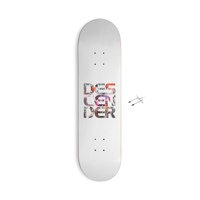 DESCENDER Accessories With Hanging Hardware Skateboard by Dustin Nguyen's Artist Shop