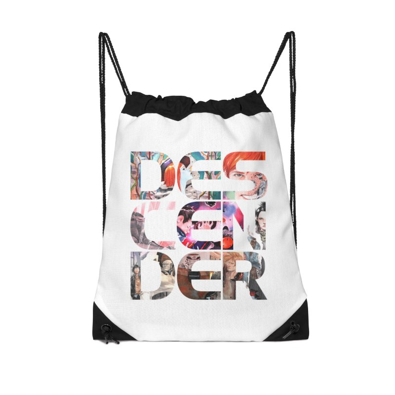 DESCENDER Accessories Drawstring Bag Bag by Dustin Nguyen's Artist Shop