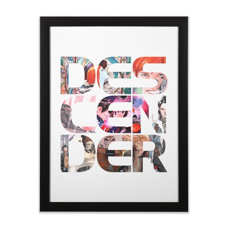 DESCENDER Home Framed Fine Art Print by Dustin Nguyen's Artist Shop