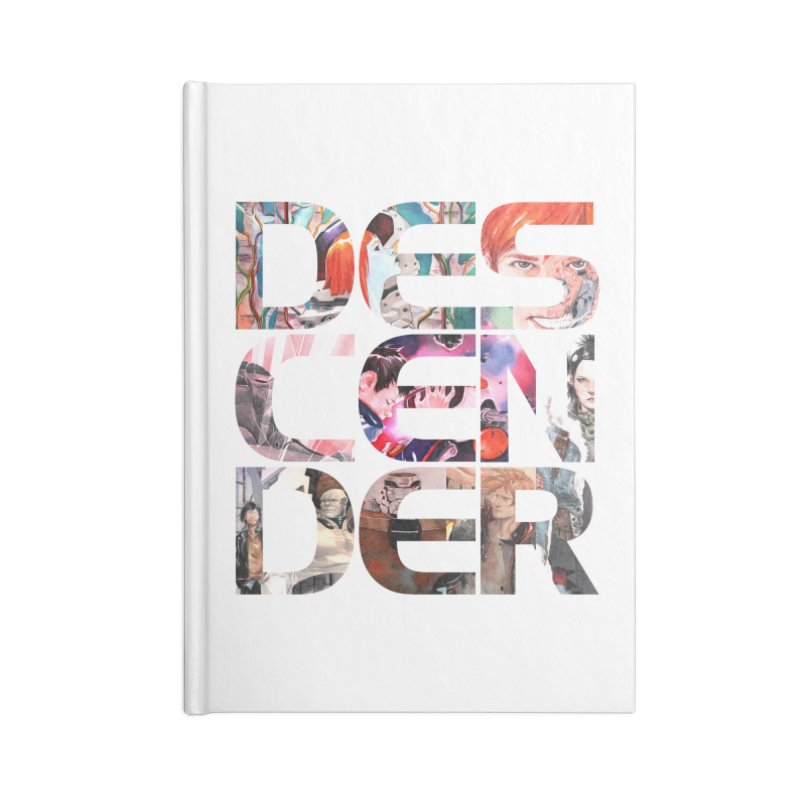 DESCENDER Accessories Lined Journal Notebook by Dustin Nguyen's Artist Shop