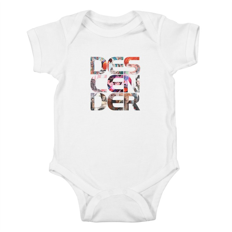 DESCENDER Kids Baby Bodysuit by Dustin Nguyen's Artist Shop