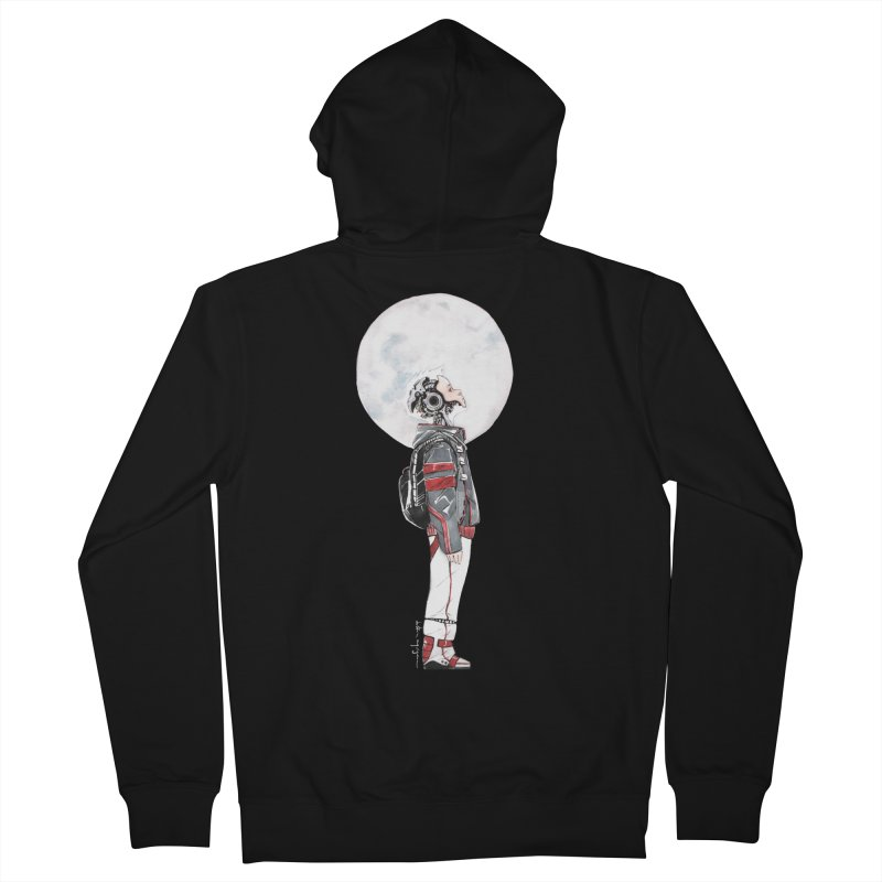Descender Women's French Terry Zip-Up Hoody by Dustin Nguyen's Artist Shop