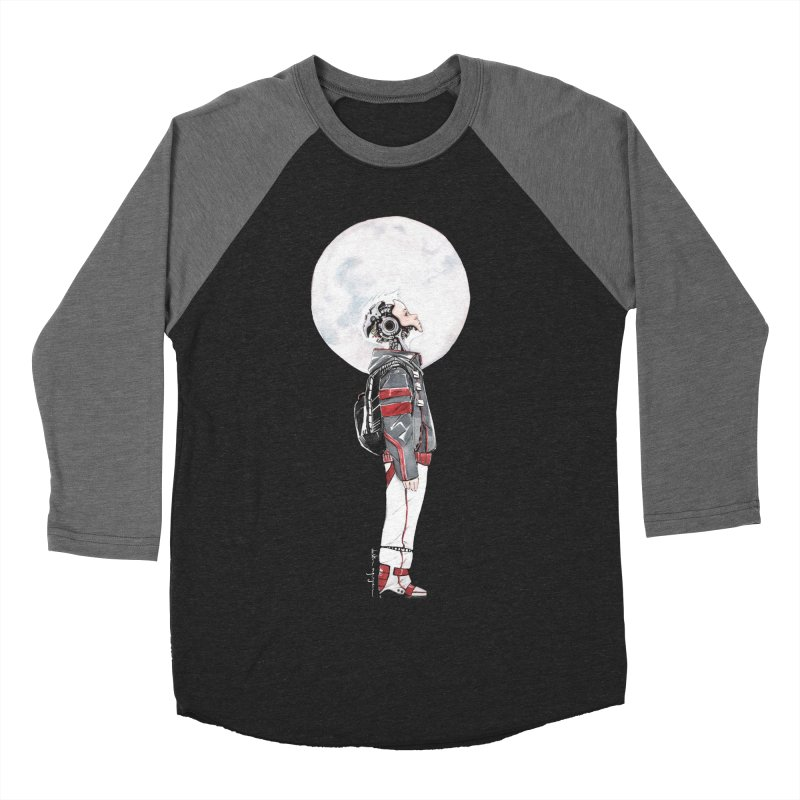 Descender 1 Men's Baseball Triblend Longsleeve T-Shirt by Dustin Nguyen's Artist Shop