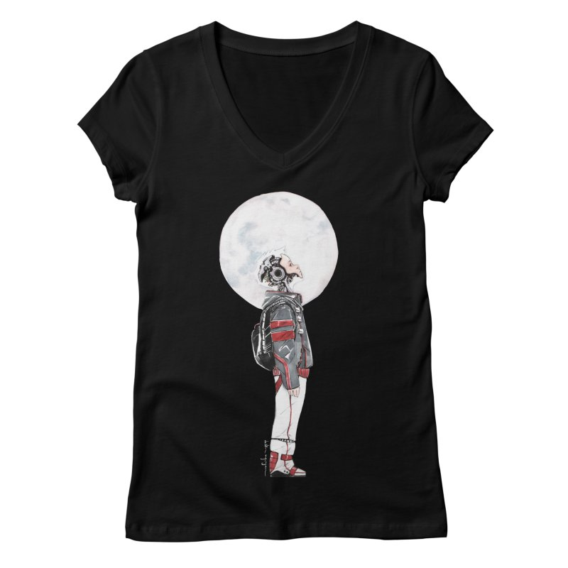 Descender 1 Women's Regular V-Neck by Dustin Nguyen's Artist Shop