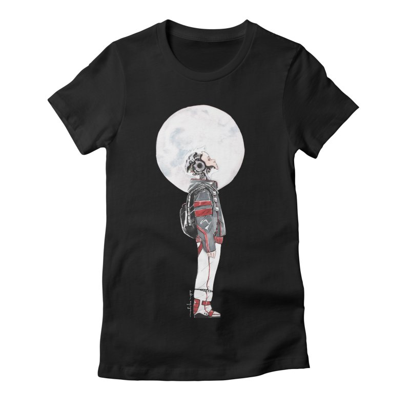 Descender 1 Women's Fitted T-Shirt by Dustin Nguyen's Artist Shop