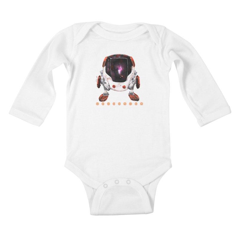 Bandit Kids Baby Longsleeve Bodysuit by Dustin Nguyen's Artist Shop