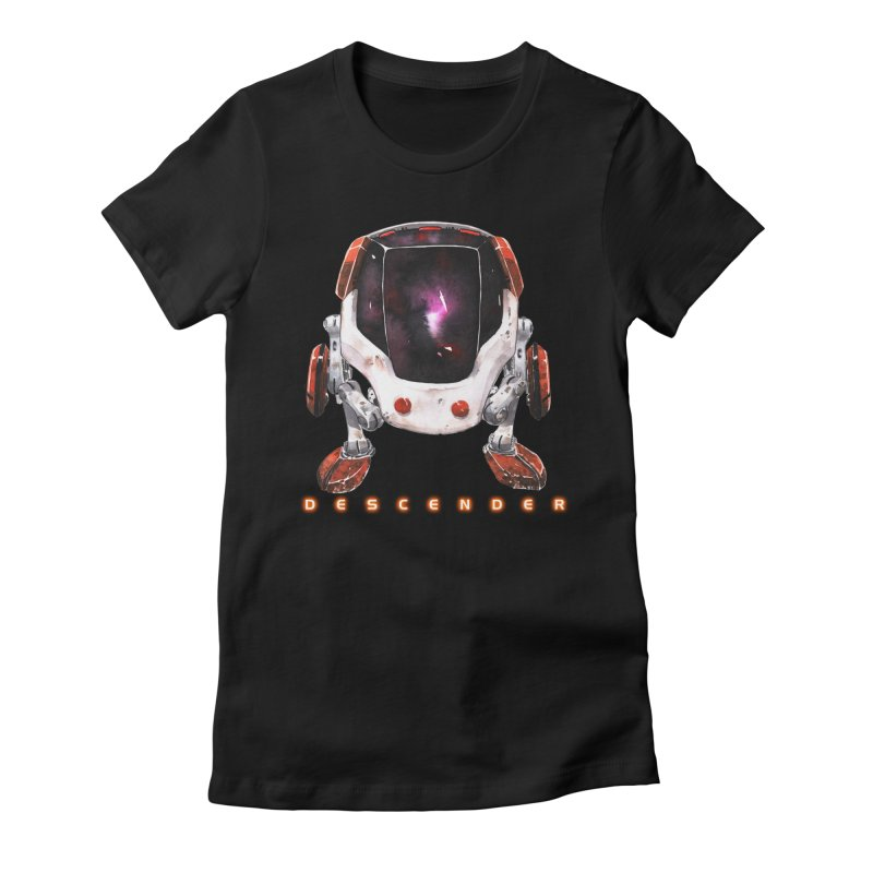 Bandit Women's Fitted T-Shirt by Dustin Nguyen's Artist Shop