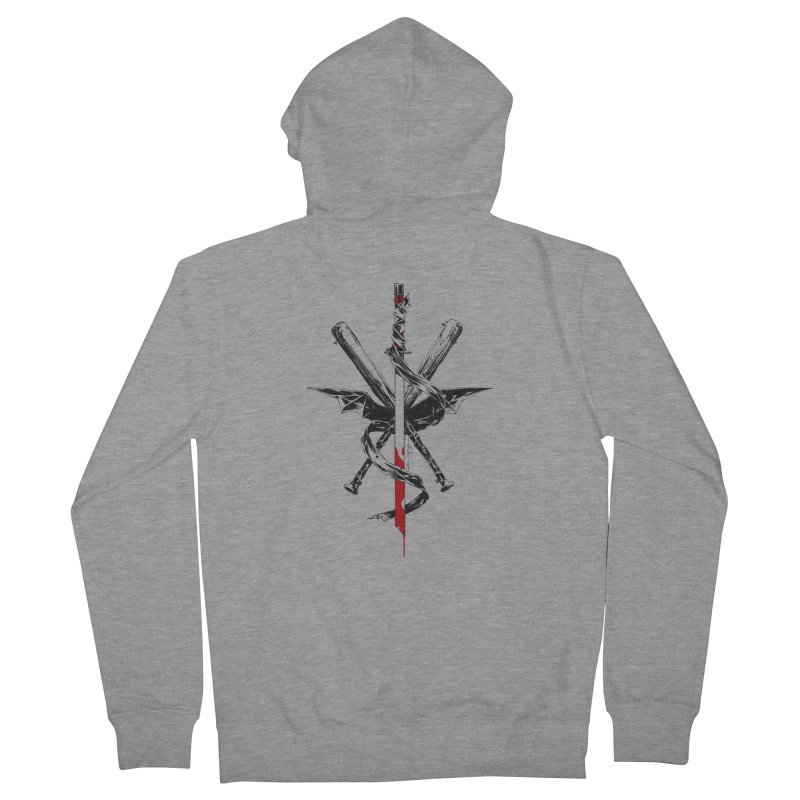 fanclub Men's French Terry Zip-Up Hoody by Dustin Nguyen's Artist Shop