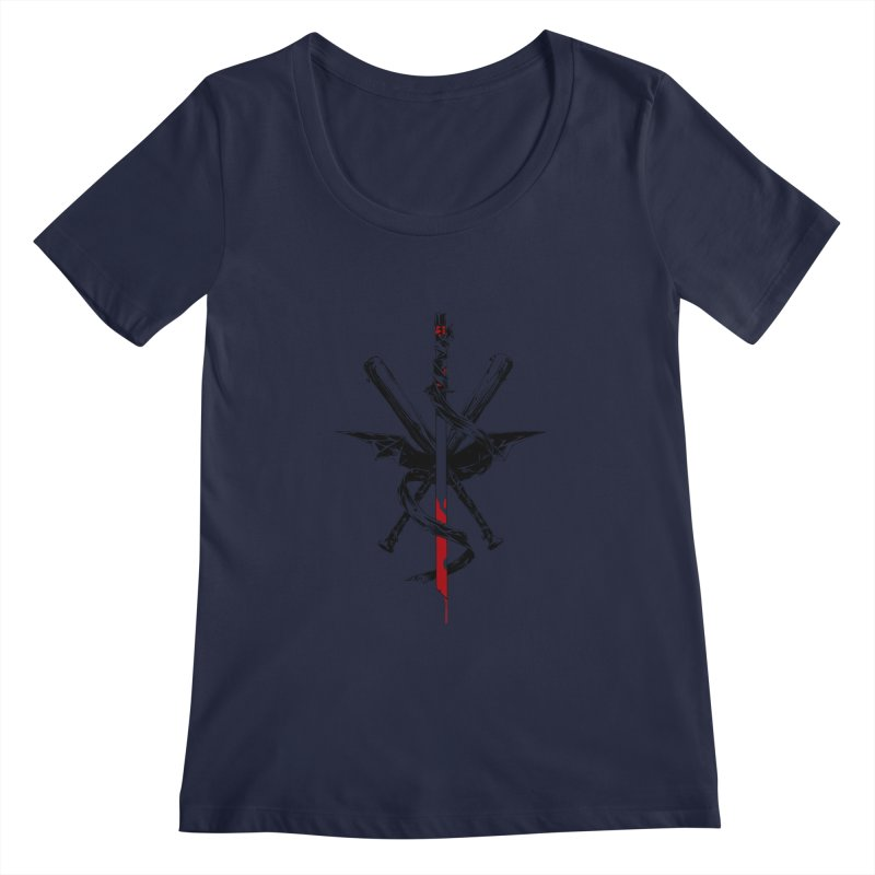 fanclub Women's Regular Scoop Neck by Dustin Nguyen's Artist Shop