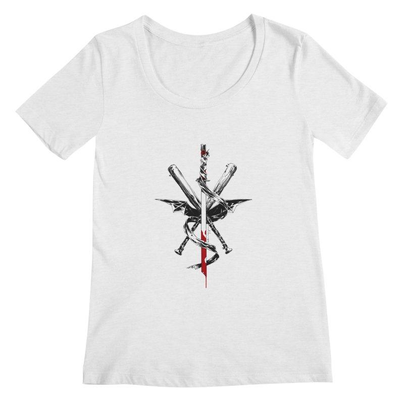 fanclub Women's Scoopneck by Dustin Nguyen's Artist Shop