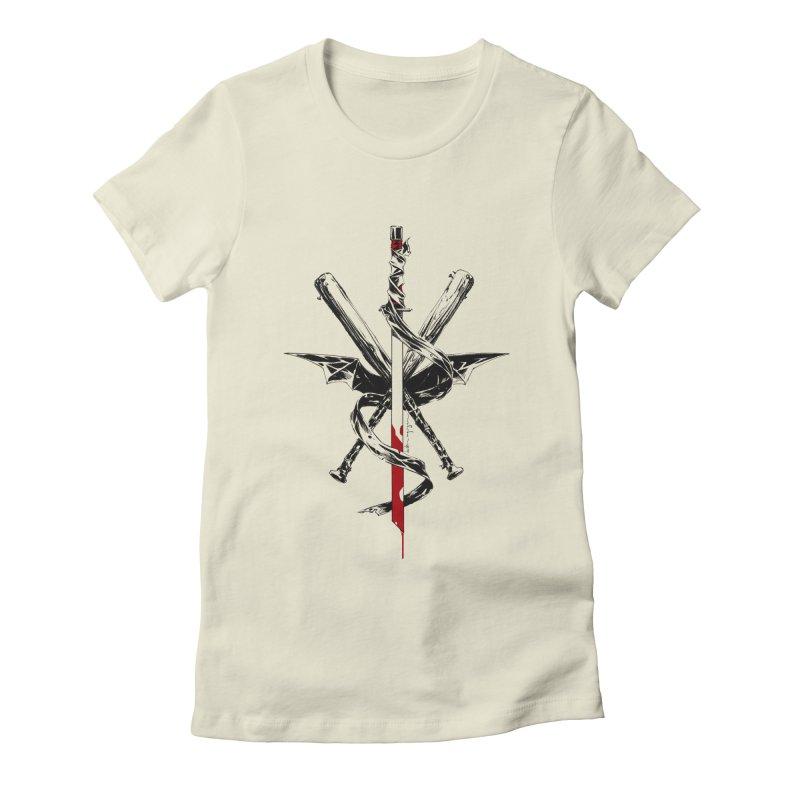 fanclub Women's Fitted T-Shirt by Dustin Nguyen's Artist Shop
