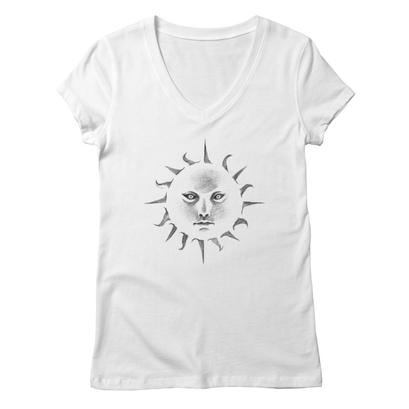 and the sun Women's V-Neck by Dustin Nguyen's Artist Shop