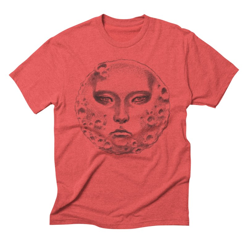 the moon Men's Triblend T-shirt by Dustin Nguyen's Artist Shop