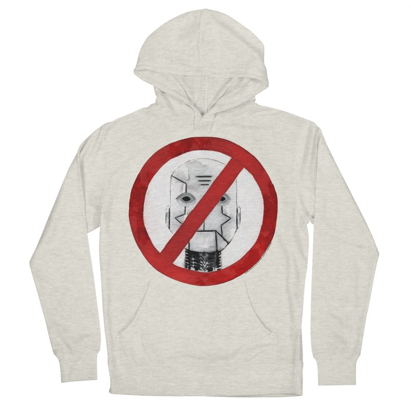 no robot Women's French Terry Pullover Hoody by Dustin Nguyen's Artist Shop