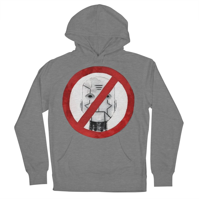 no robot Men's French Terry Pullover Hoody by Dustin Nguyen's Artist Shop