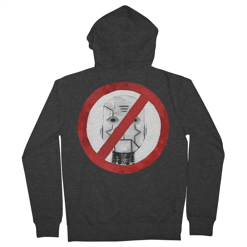 no robot Men's Zip-Up Hoody by Dustin Nguyen's Artist Shop
