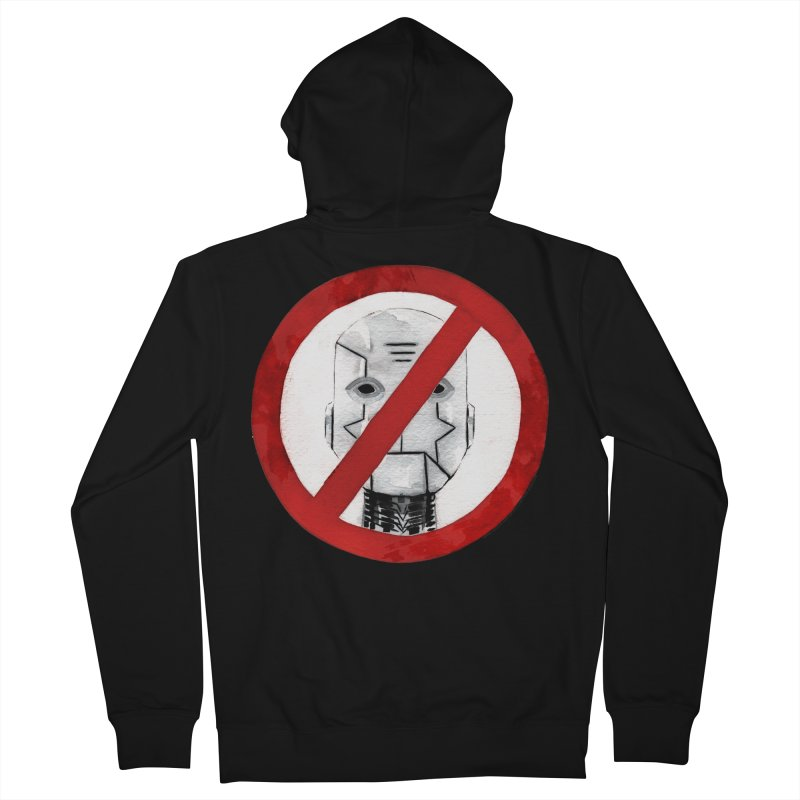 no robot Men's French Terry Zip-Up Hoody by Dustin Nguyen's Artist Shop