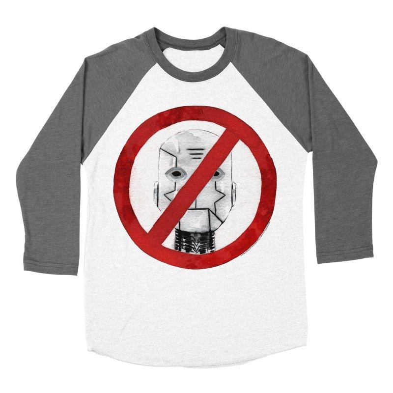 no robot Women's Baseball Triblend Longsleeve T-Shirt by Dustin Nguyen's Artist Shop