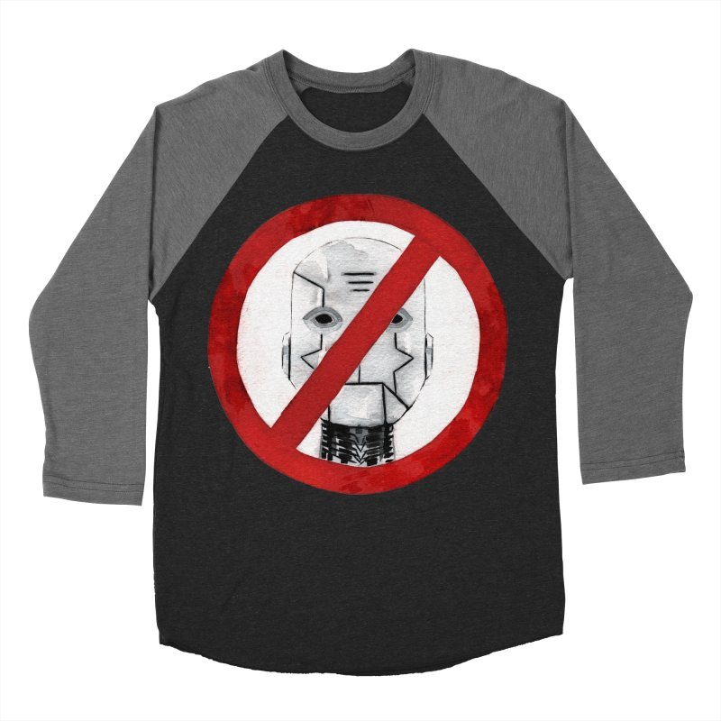 no robot Women's Baseball Triblend Longsleeve T-Shirt by Dustin Nguyen's Artist Shop