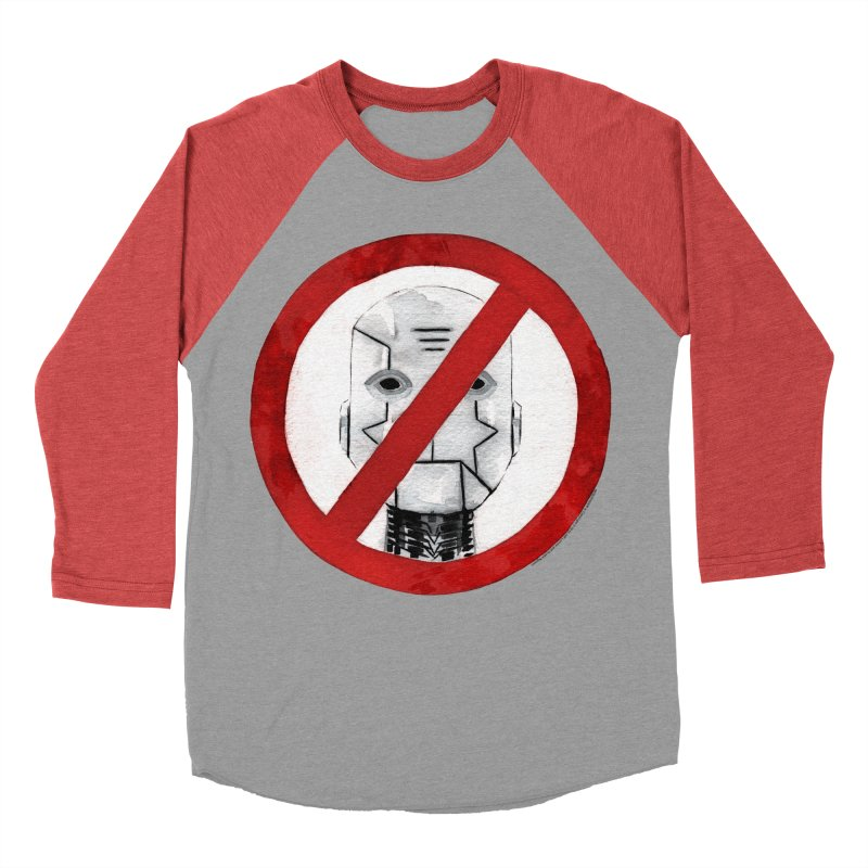 no robot Men's Baseball Triblend Longsleeve T-Shirt by Dustin Nguyen's Artist Shop