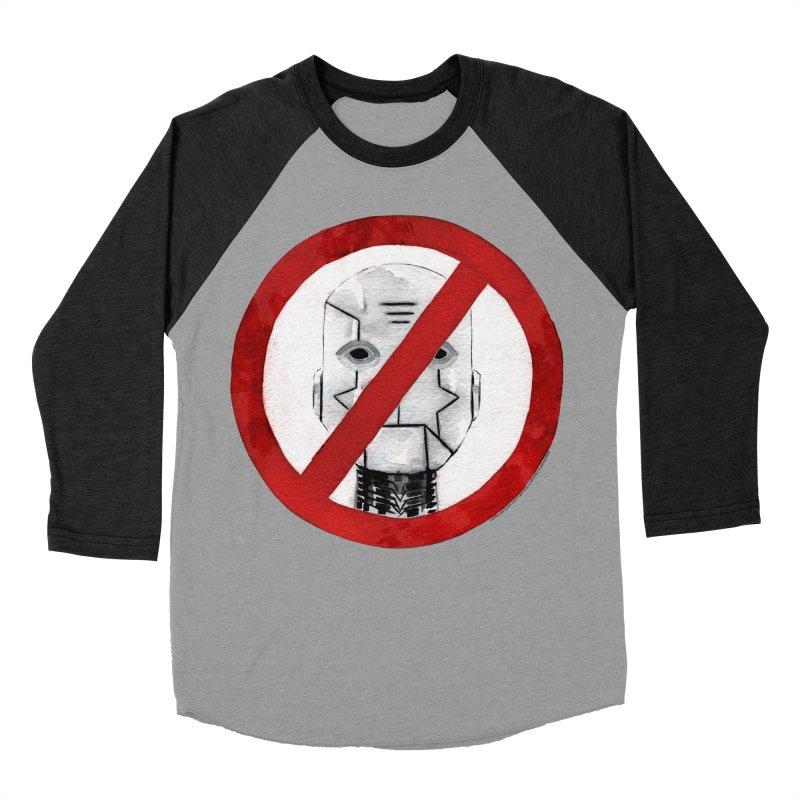 no robot Men's Baseball Triblend Longsleeve T-Shirt by Dustin Nguyen's Artist Shop