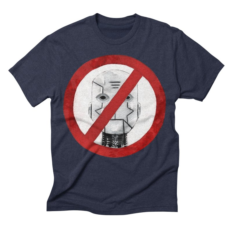 no robot Men's Triblend T-shirt by Dustin Nguyen's Artist Shop