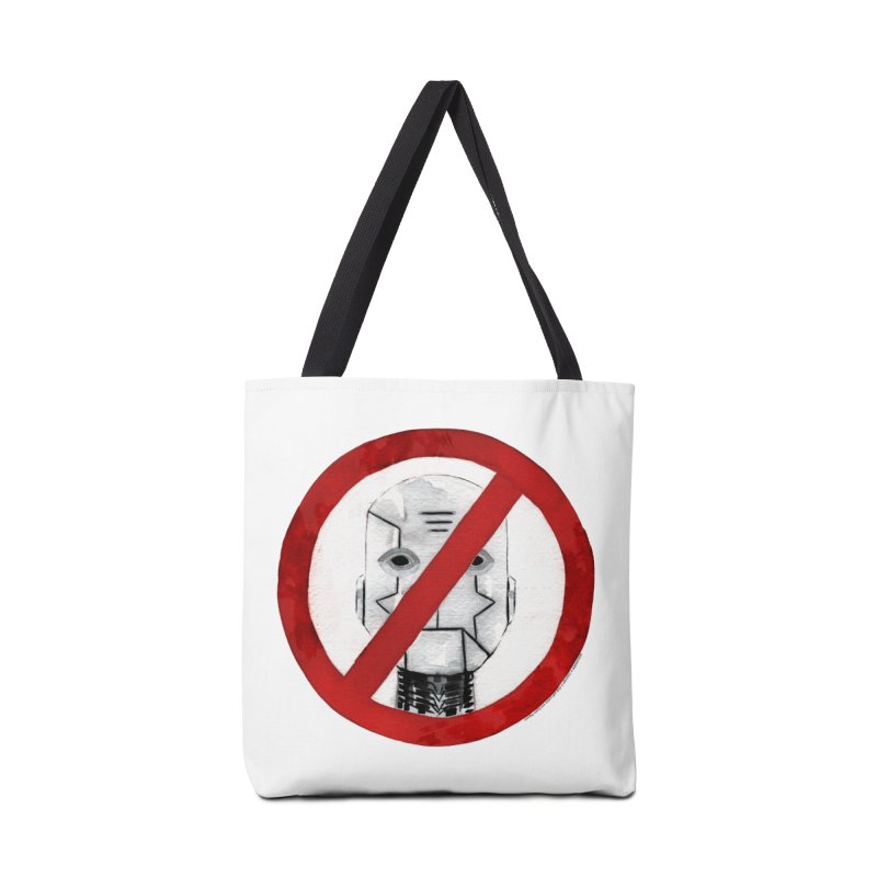 no robot Accessories Tote Bag Bag by Dustin Nguyen's Artist Shop