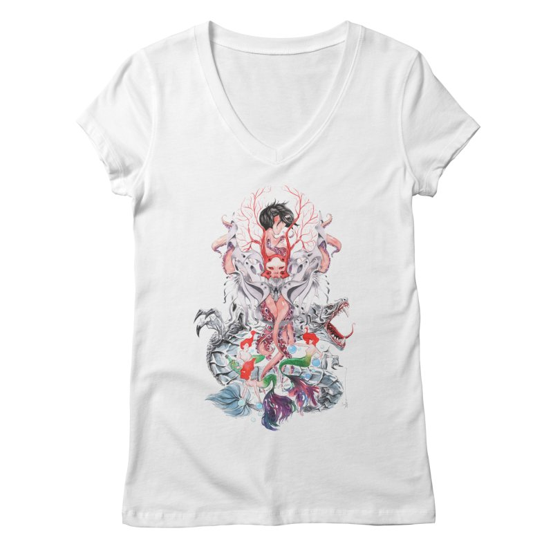 2016 Women's Regular V-Neck by Dustin Nguyen's Artist Shop